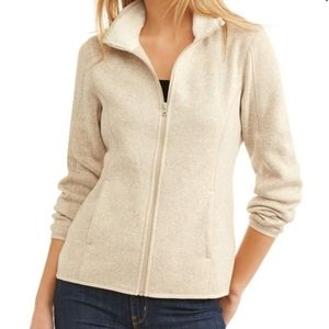 SwissTech Full Zip Oatmeal Fleece Jacket